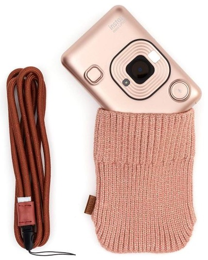 Fujifilm INSTAX LIPLAY BLUSH GOLD BUNDLE HARD фотоаппарат instax mini liplay blush gold