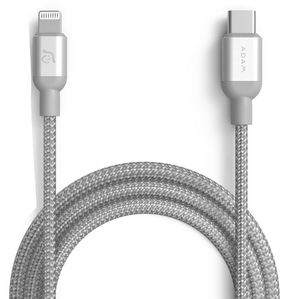 ADAM Elements USB-C - Lightning 1.2м (серебристый)