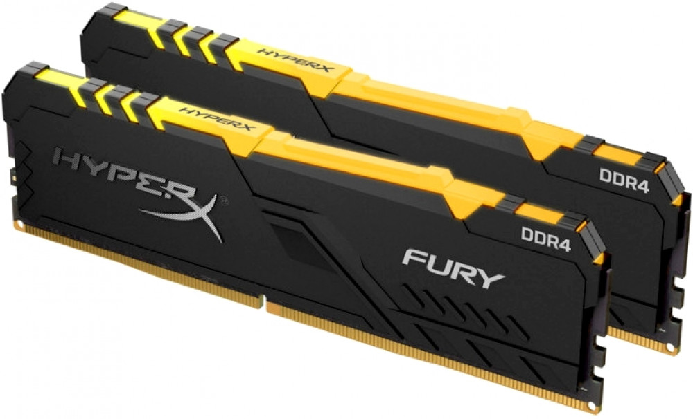 Kingston DDR4 32GB HyperX Fury RGB HX432C16FB4AK2/32 (черный)