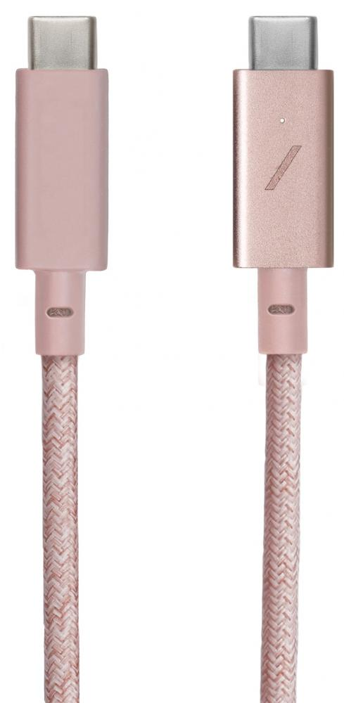 Native Union USB-C - USB-C 2.4м (розовый)