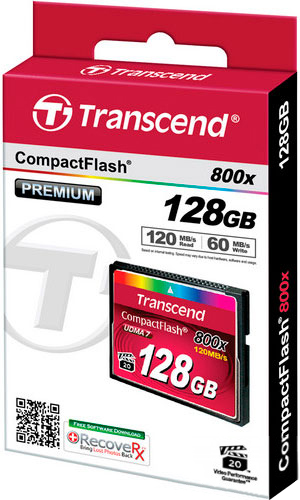 Transcend 128GB Compact Flash Card 800X (TS128GCF800)