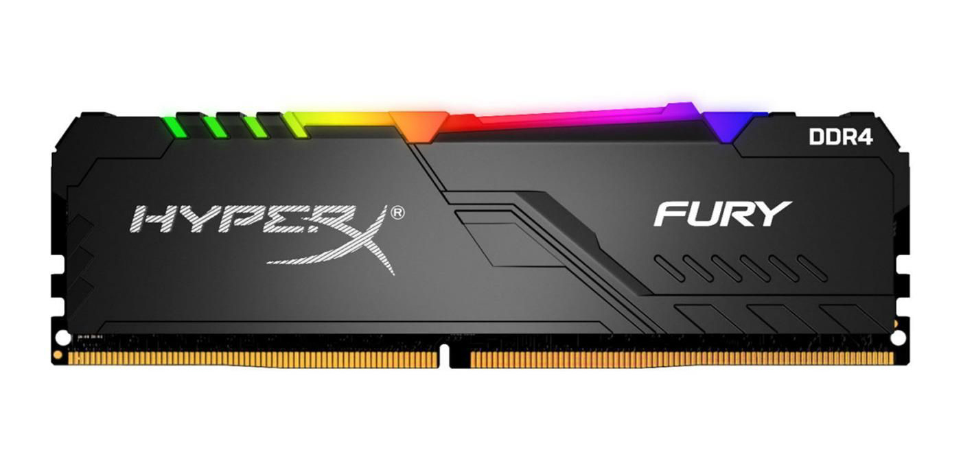 Kingston DDR4 8GB HyperX Fury RGB HX437C19FB3A/8 (черный)
