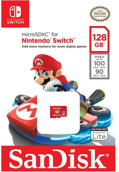 Фото - SanDisk 128Gb MicroSD Nintendo Switch elecall smart swich touch switch wall light touch screen switch led indicator crystal glass switch panel sk a801m eu